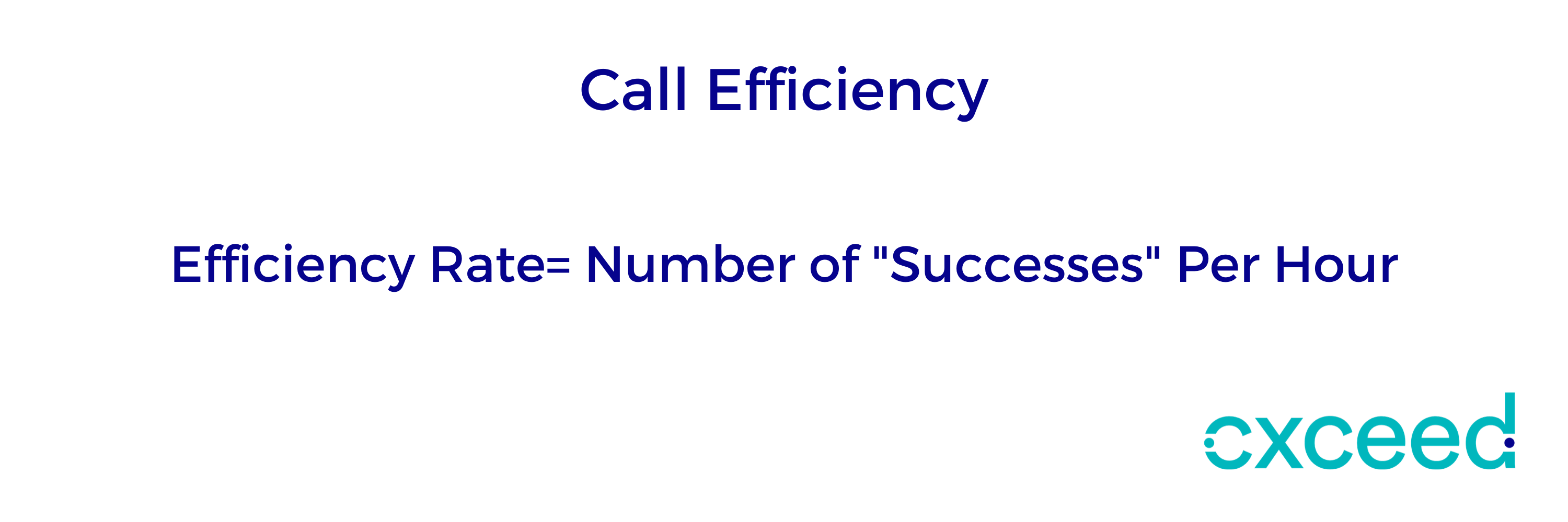 Call efficiency