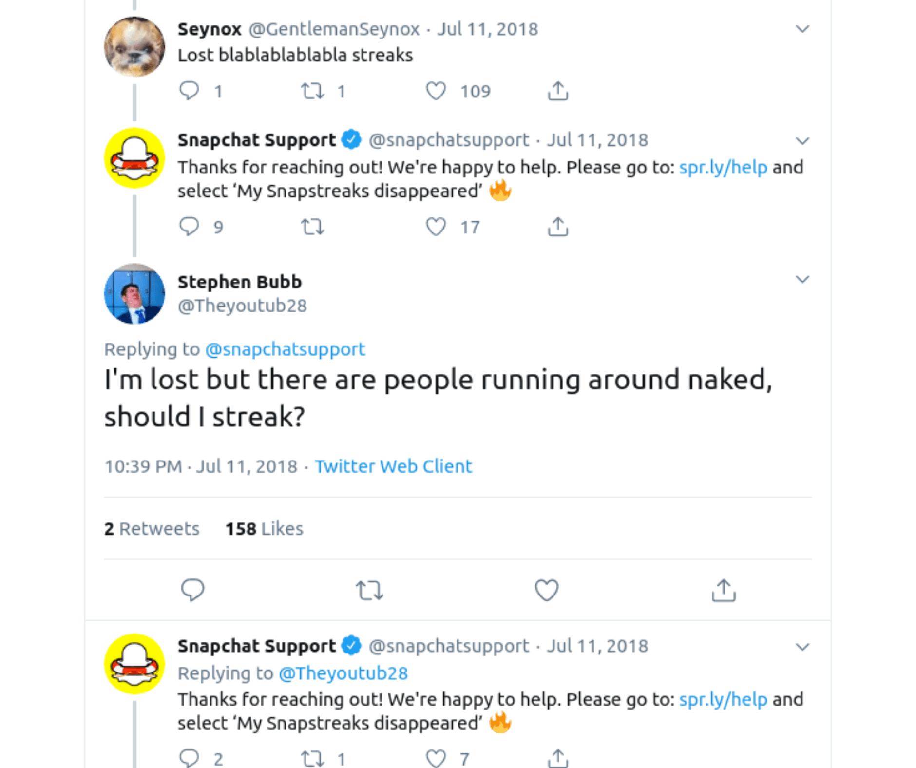 Snapchat Reply Fail