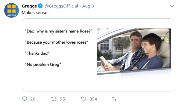Greggs Being a Meme