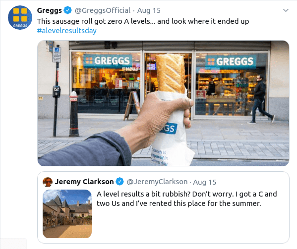 Greggs and Jeremy Clarkson