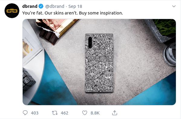 dbrand Twitter advert
