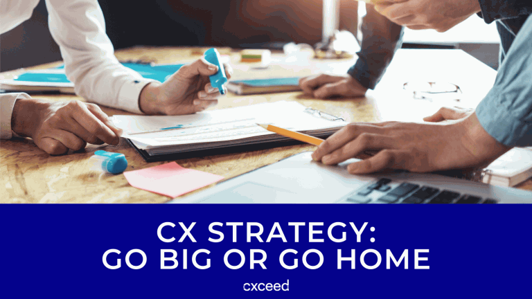 CX Strategy - Go Big or Go Home